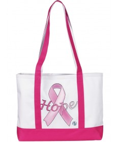 Grote Canvas Tas Hope Pink Ribbon