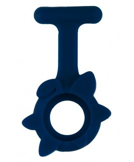 Siliconen Hoesje Lente Bloem Marineblauw