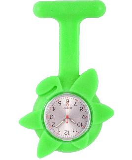 Siliconen Lente Bloem Verpleegstershorloge Lime Groen