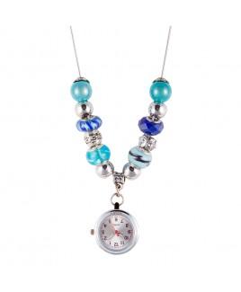 Ketting Horloge Parel Turquoise